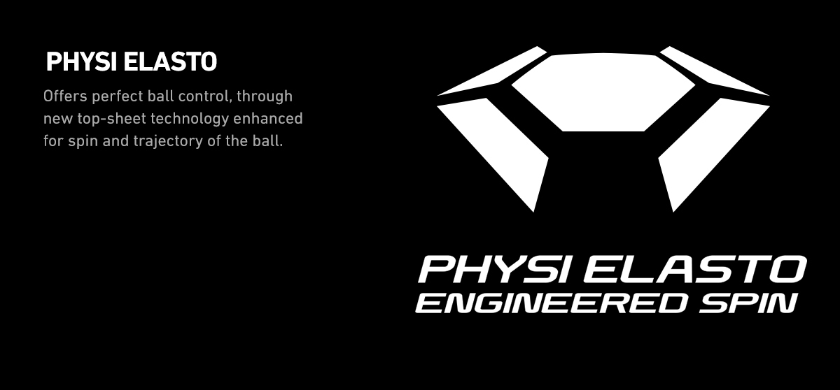 PHYSI ELASTO technology - innovated from the historied construction of classic rubber - made MUSA I the new killing machine. Controls over service, service return, and pre-attack rally are professionally accurate. Backhand attacks are far more comfortable to make and become magically flexible to manage. Winning probability of MUSA I to a classic offensive player reaches higher than any other classic rubbers. Unforced error in your game reduces dramatically to stabilize your pace and to dominate the game eventually. MUSA I has the innovative physical construction to generate more energy on the ball. Your power-charged ball makes the quality attack with sharp speed and heavy spins to open more winning opportunities. Be sensible to the real result and Win with us.